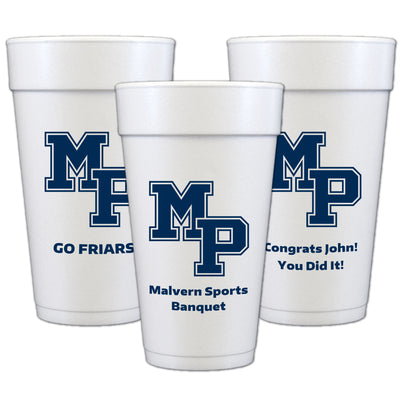 Malvern Custom 20 oz Foam Cups (Set of 50)