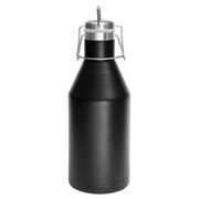 Custom 64 oz. Black Vacuum Insulated Growler with Swing-Top Lid