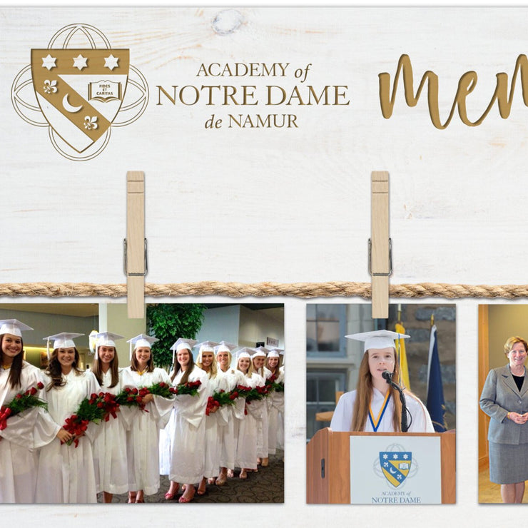 "ND ""Memories"" Wood Photo Sign"