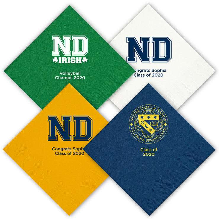 ND Custom Luncheon Napkins (Set of 50)