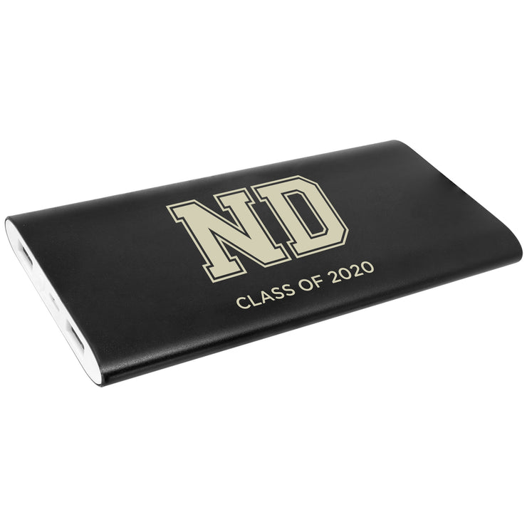 ND Custom Black Power Bank & Wireless Charger