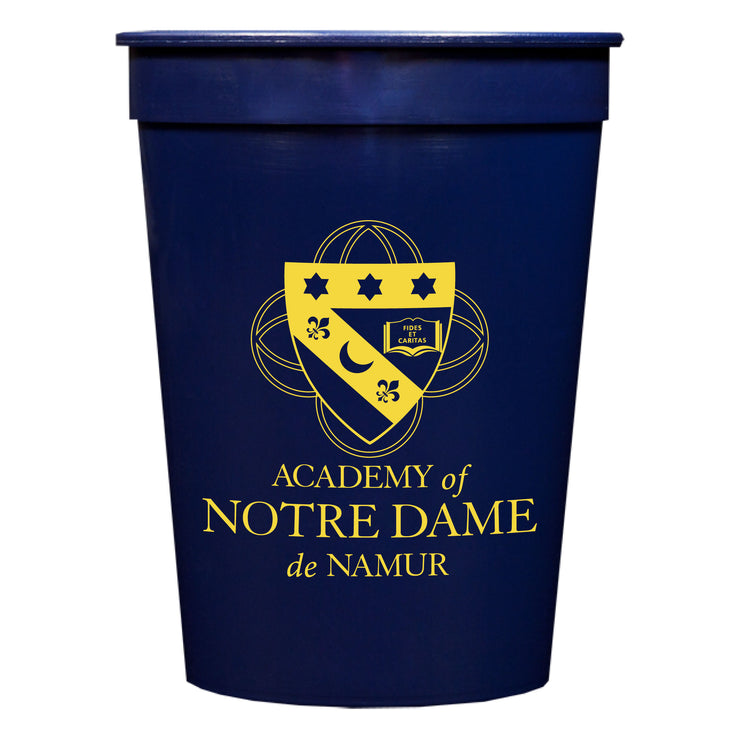 Academy of Notre Dame de Namur 16 oz Stadium Cups (Set of 25)
