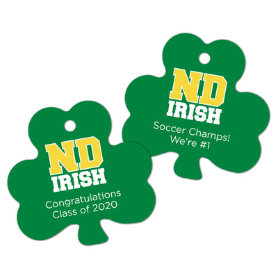 ND Personalized Shamrock Shaped Gift Tags (Set of 10)