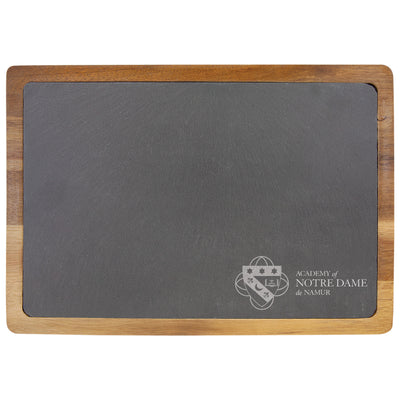 Notre Dame Acacia Wood and Slate Cutting Board