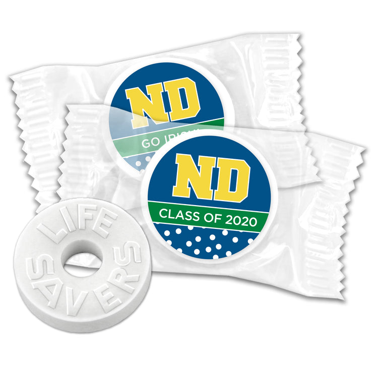 Notre Dame Personalized Life Savers (Set of 100)