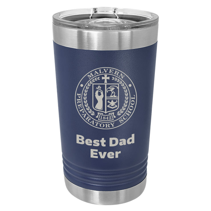 MP Custom 16 oz. Navy Blue Insulated Tumbler with Slider Lid