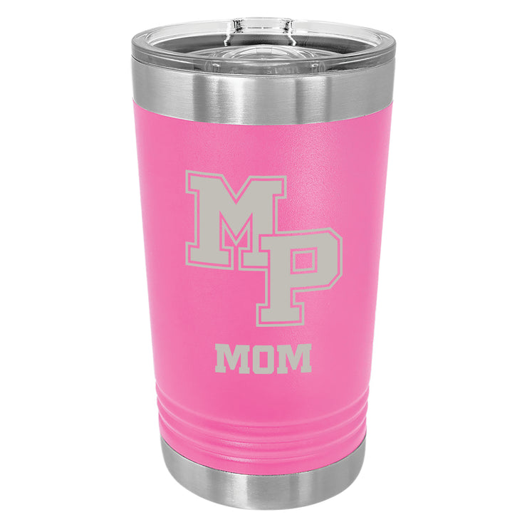 MP Custom 16 oz. Pink Insulated Tumbler with Slider Lid