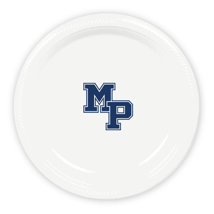 Malvern Prep Logo Plastic Plates (2 Sizes Available) (Set of 25)