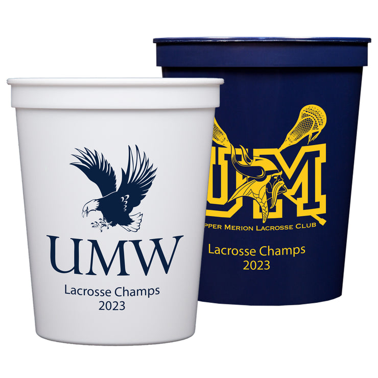 Custom Logo 16oz Stadium Cups (Set of 50)