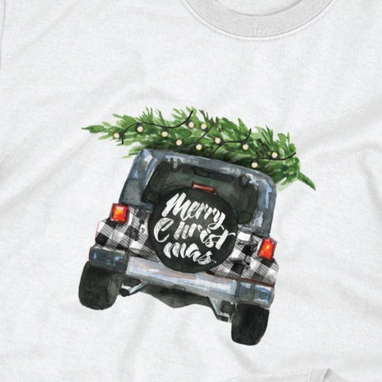 Matching Christmas Shirts for Family, Buffalo Plaid Christmas Jeep T-Shirt