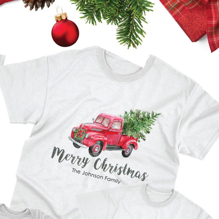 Matching Christmas Shirts for Family, Christmas Pickup Truck with Tree T-Shirt