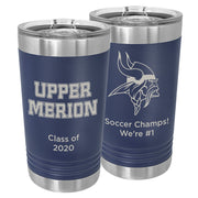 Upper Merion SD Custom 16 oz. Navy Blue Insulated Tumbler with Slider Lid