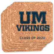Upper Merion Custom Square Cork Coasters (Set of 6)