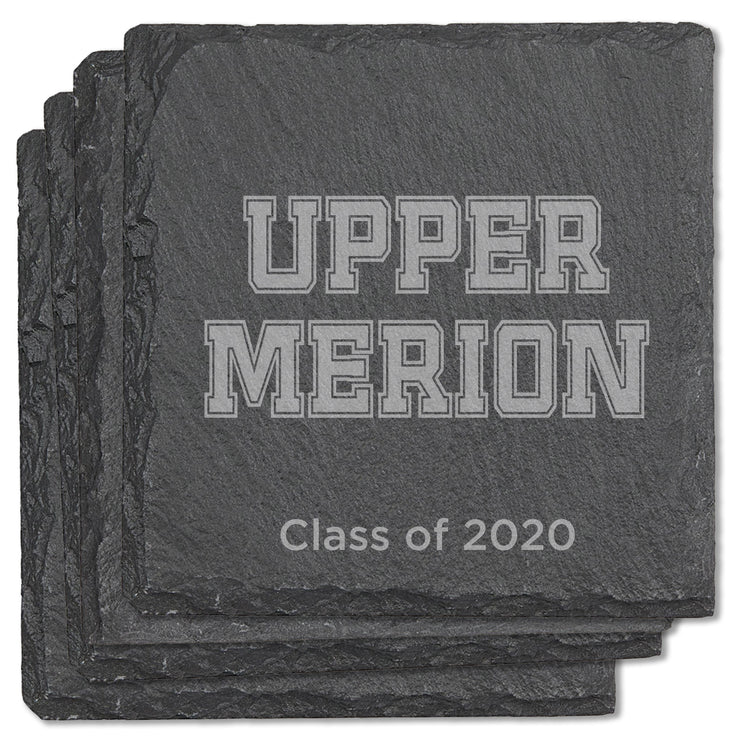 Upper Merion Graduation Square Slate Coasters - set of 4