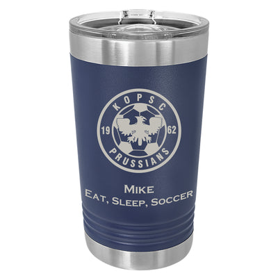 KOPSC Prussians 16 oz. Navy Blue Insulated Tumbler with Slider Lid