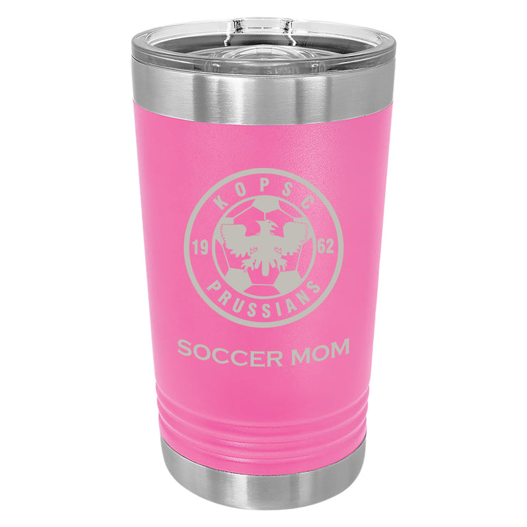 KOPSC Prussians 16 oz. Pink Insulated Tumbler with Slider Lid
