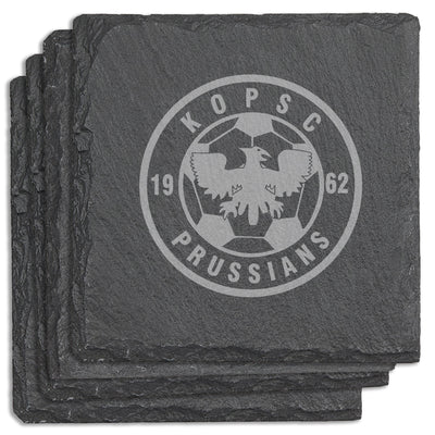 KOPSC Prussians Square Slate Coasters (Set of 4)
