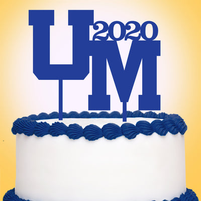 Upper Merion SD Logo Graduation Cake Topper