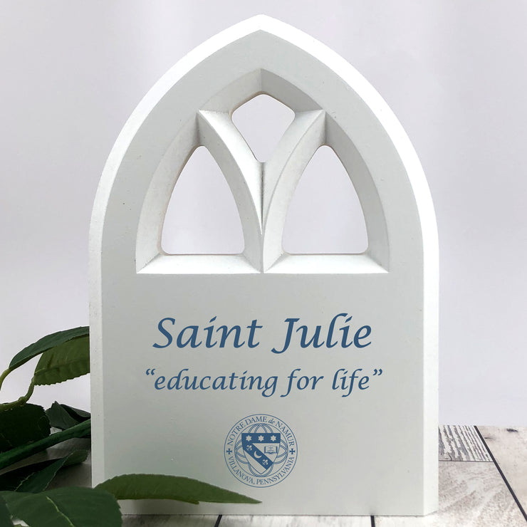 St. Julie Chapel Window Wooden Sign