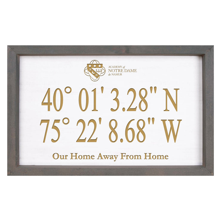 ND Personalized GPS Coordinates Wood Sign