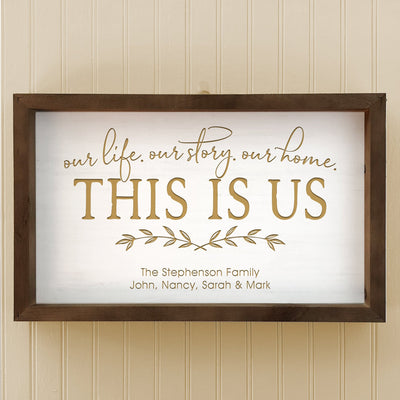 "Personalized ""This Is Us"" Wall Decor Sign"