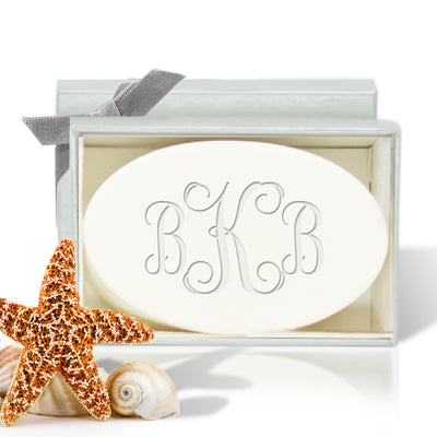 Monogram Soap, Personalized Carved Soap - 1 bar of soap