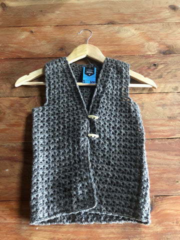 Crochet Vest with Toggles
