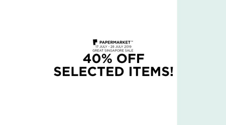 Great Singapore Sale: 40% OFF Selected Items!