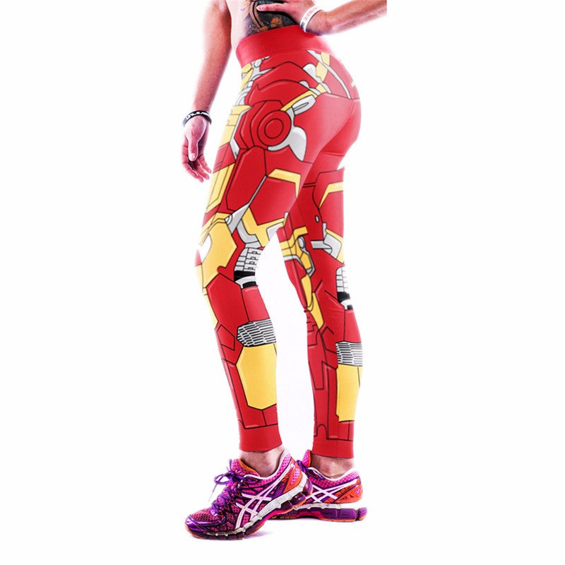Iron Man Printed Yoga Pants Sportswear Leggings - Best Seller