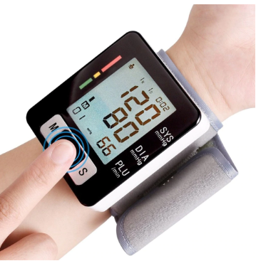 Health Care Automatic Digital LCD Wrist Band Blood-pressure Meter Heart Rate Monitor Sphygmomanometer Oscillometric Method