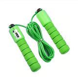 Fitness Jump Ropes with Counter Sports Adjustable Fast Speed Counting sponge Jump Skip Rope Skipping Wire examination rope