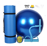 3Pcs Sports Fitness Yoga Ball Set Includes 65cm Fitball Pilates Balance Gym Exercise Yoga Ball 10mm Yoga Mat Pedal Ttension Rope