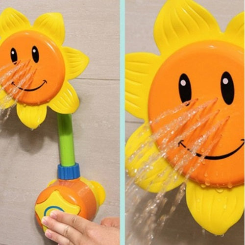 Baby Bath Toy Sunflower Shower Faucet Shower Random Color
