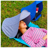 Foldable Sunshade Sun Protection Personal Portable Tent Sun Shade Mini Beach Umbrella Parasol Pillow Blanket Shipping USA awning tent