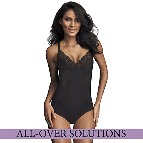 Maidenform Flexees Women's Shapewear Body Briefer with Lace , Black, 42DD
