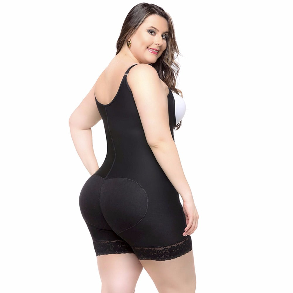 Plus Size Bodysuit Slimming Waist Body Shaper Corset Body Shapewear