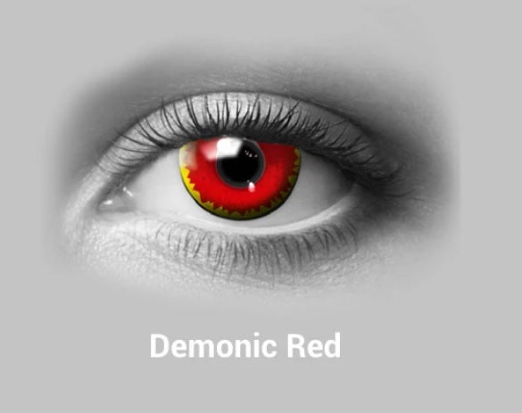 Scary Demonic Red Halloween Colored Contact Lense
