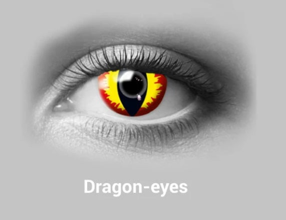 Scary Dragon Halloween Colored Contact Lense