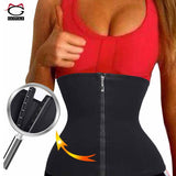 Hot Neoprene Slimming Belt Waist Trainer for Women Corset Zipper Hooks Body Shaper Hourglass Waist Cincher Tummy Control Workout