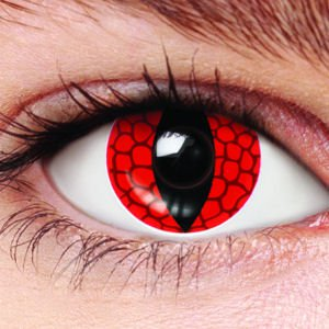 Scary Red Dragon Halloween Colored Contact Lense