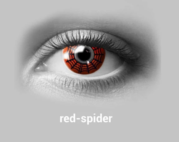 Red Spider Halloween Contact Lense