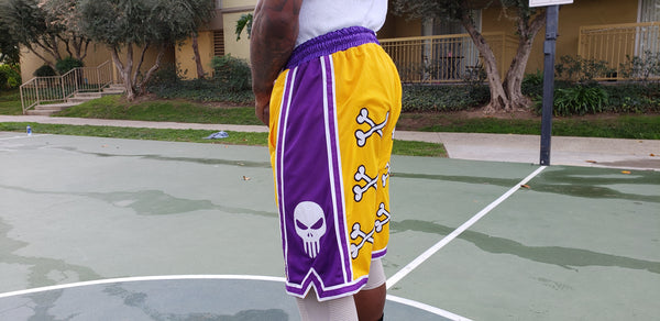 💀 Bone Collector Los Angeles Signature Shorts Embroidered 💀