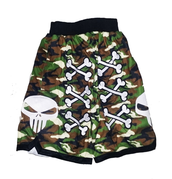 💀 Bone Collector Signature Shorts Grey Camouflage 💀