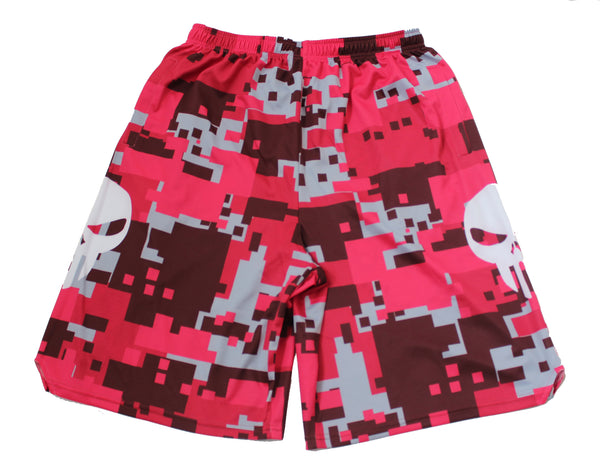 💀 Bone Collector Signature Shorts Red Camouflage 💀
