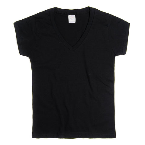 D0306 Women ́s V-Neck Silhouette T-Shirt.