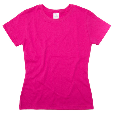 D0300 Womens Heavy Weight Crew Neck Silhouette T-Shirt