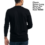2080 Unisex Fine Jersey Cuff-less Long Sleeve Crew Neck