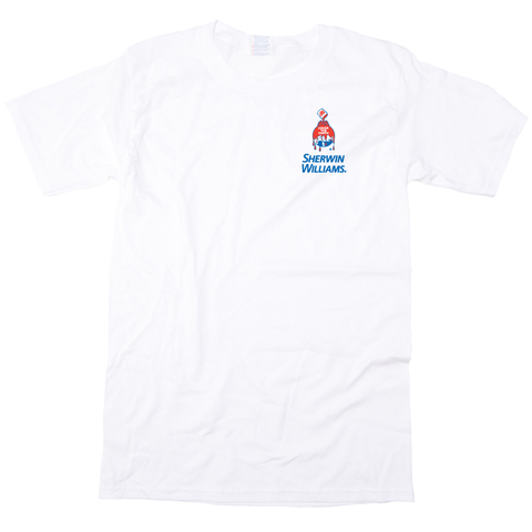 SWC0300-W WHITE T-SHIRTS - Sherwin-Williams Branded + Your Company | Heavy Weight Short Sleeve Unisex Crew Neck
