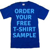 FREE SAMPLE T-SHIRT OFFER! >> STEP 1: Select your t-shirt color STEP 2: Enter your print locations and upload a logo STEP 3:  Enter ONE t-shirt in any size and procede to checkout.
