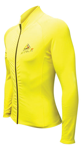 Adrenalin MULTI-ITEM 421617407  ~ 2P THERMAL ZIPTOP L/SLEEVE YELLOW New zealand nz vaughan